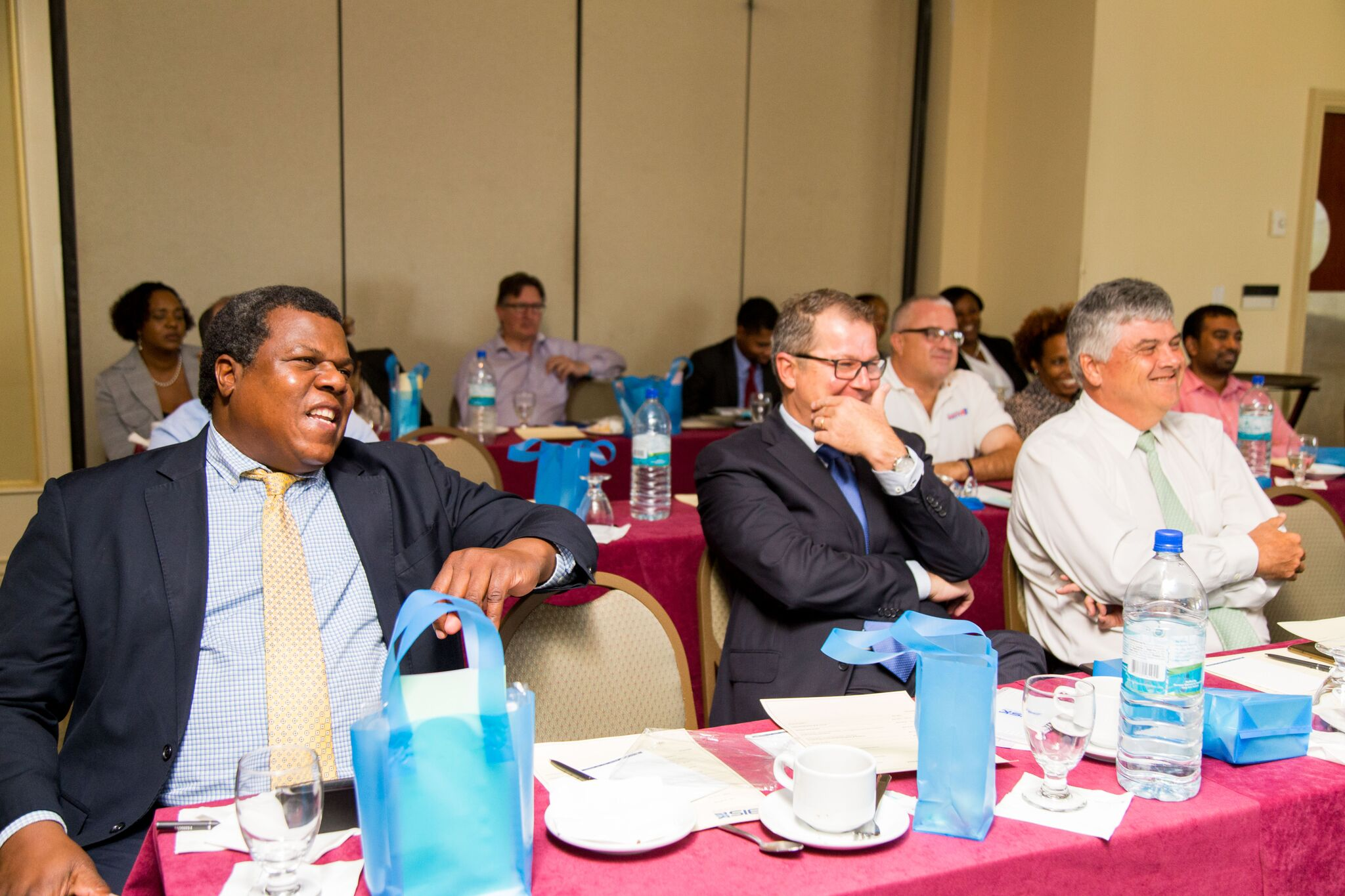 From L to R: Commonwealth Brewery Corporate Relations Director Dennis Hanna, Commonwealth Brewery Managing Director Hans Neven and Bahamas Property Fund Chairman Michael Anderson