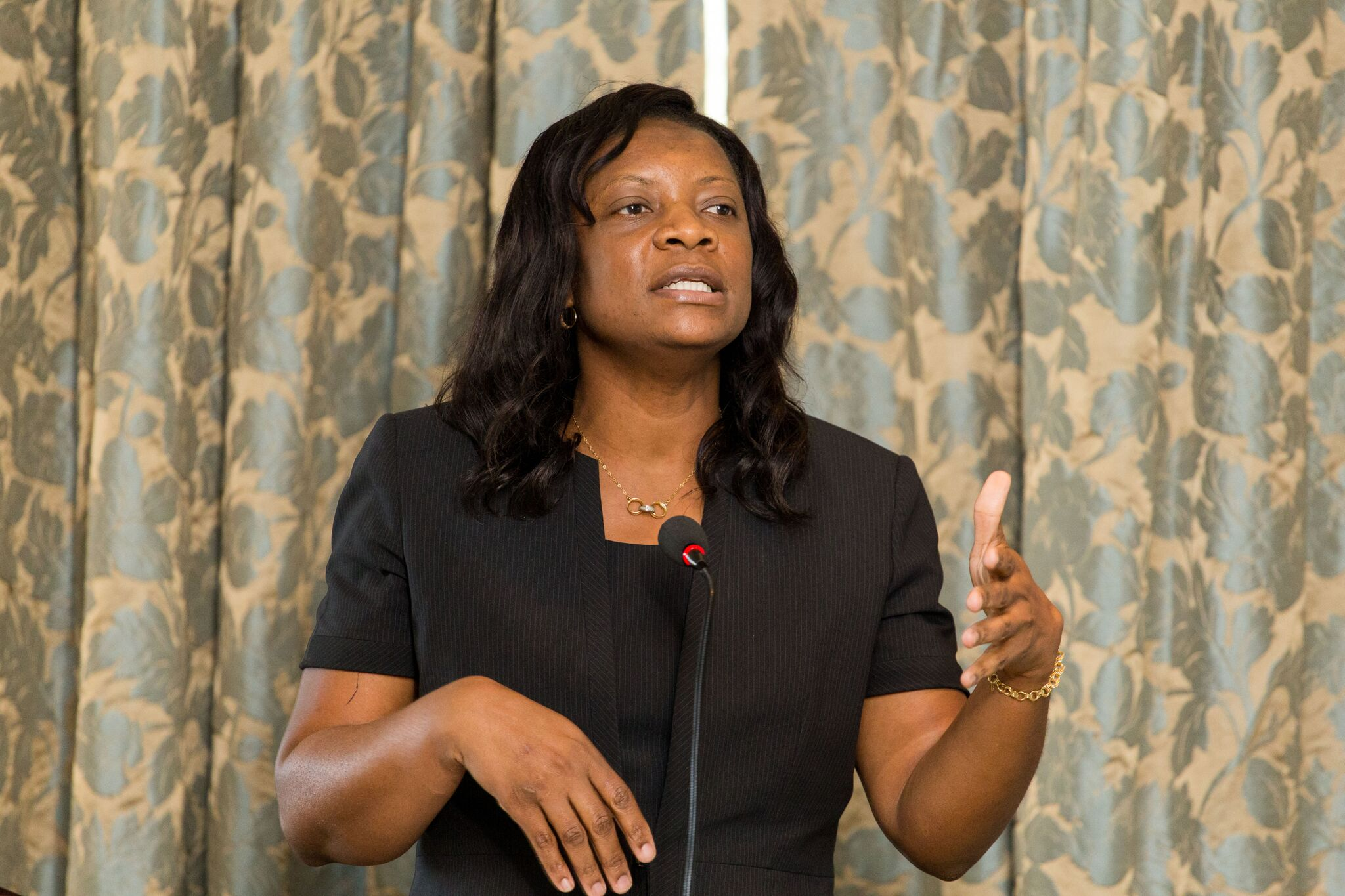 Securities Commission of The Bahamas Deputy Legal Counsel Odecca Gibson speaking on Corporate Governance